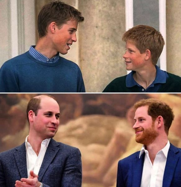 Princovia Harry a William kedysi a dnes.